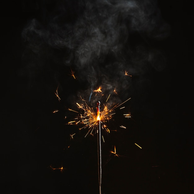 Bright sparks on Bengal light Free Photo