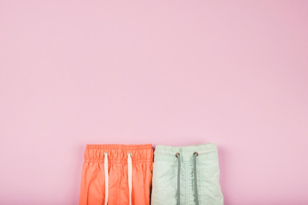 Bright summer shorts with lace Free Photo