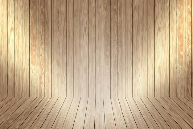 Bright Wood Room Photo Free Download