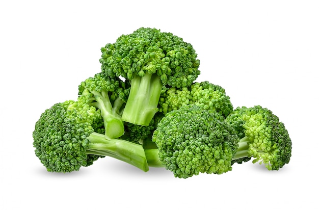 Broccoli isolated on white with clipping path Premium Photo