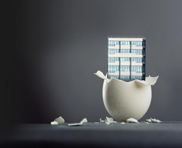 壊れた卵 Premium写真