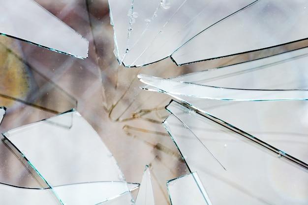 Broken glass background Premium Photo