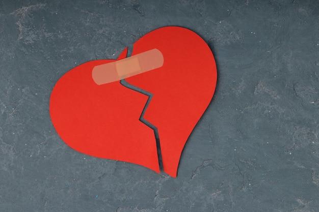 Broken heart breakup concept separation and divorce Premium Photo