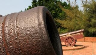 Bronze cannons Free Photo