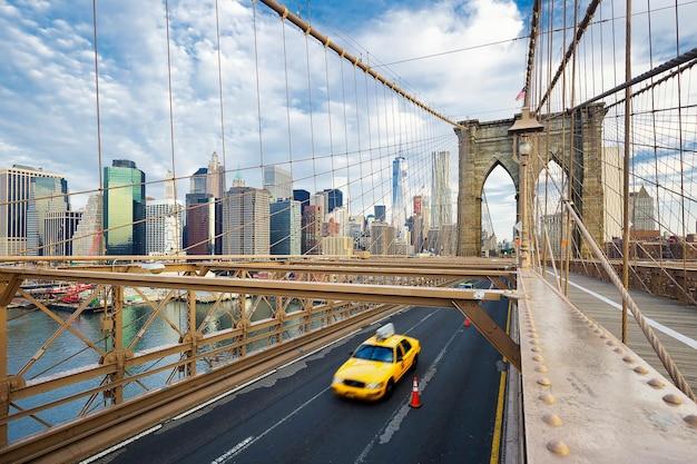 Ponte di brooklyn a new york city. Foto Gratuite