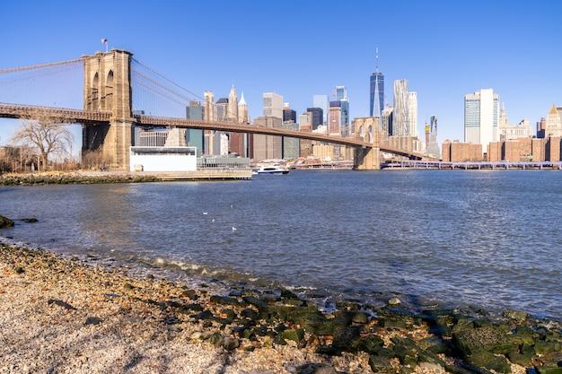 Brooklyn bridge new york Premium Photo
