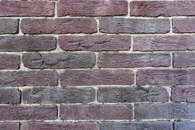 Muro di mattoni marrone. texture di vecchio marrone scuro e rosso mattone con ripieno bianco Foto Gratuite