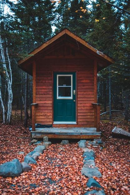Коричневый домик в лесу Бесплатные Фотографии