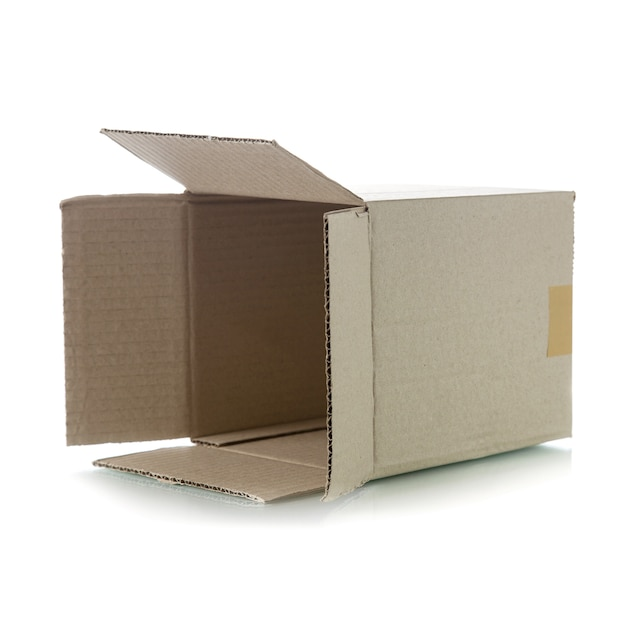 Brown cardboard box Premium Photo