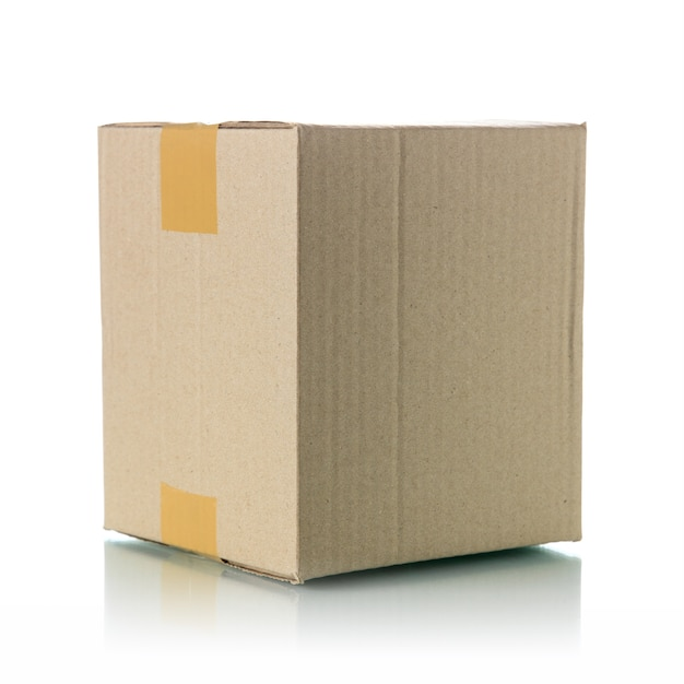 Brown cardboard box Premium Photo