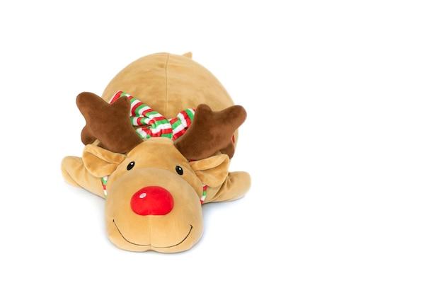 Brown deer plush isolated on white Premium Photo