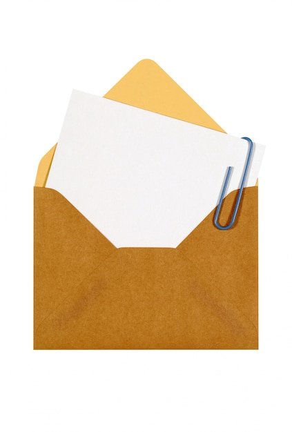 Brown envelope with message card Free Photo