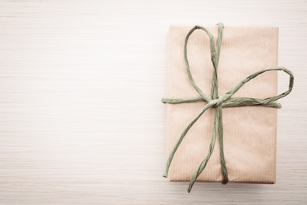 Brown gift box Free Photo