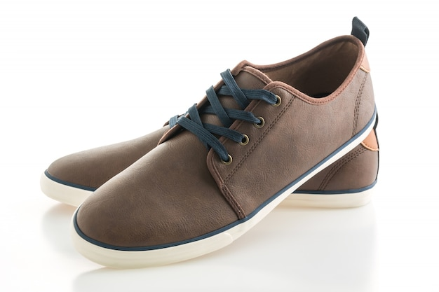 Brown leather shoes Free Photo