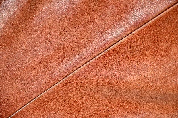 Brown leather texture. Premium Photo
