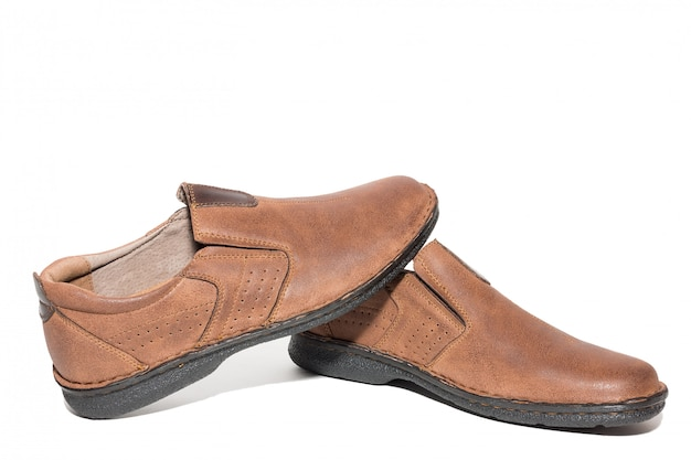 Brown men's shoes Premium Photo