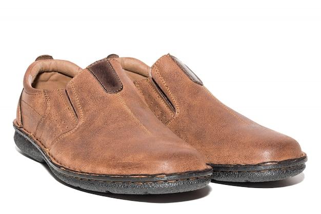 Brown men's shoes Premium Photo