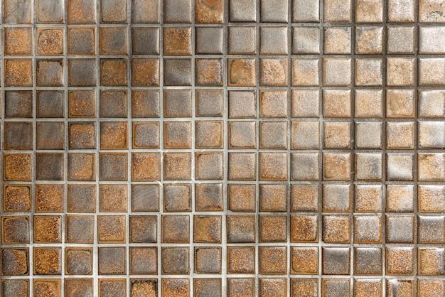Sfondo muro di mosaico marrone Foto Gratuite