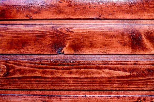 Brown oiled oak mahagony texture ready for decoration Premium Photo