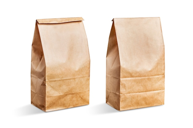 Коричневый бумажный мешок с белым фоном Бесплатные Фотографии