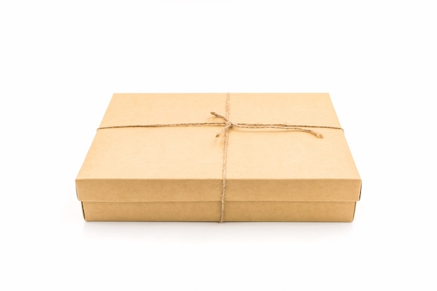 Brown paper box Premium Photo