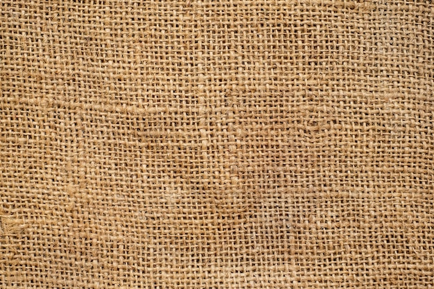 Brown sackcloth texture and background. Premium Photo