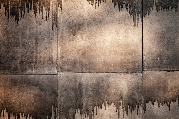 Brown scary background with smudges of paint Premium Photo