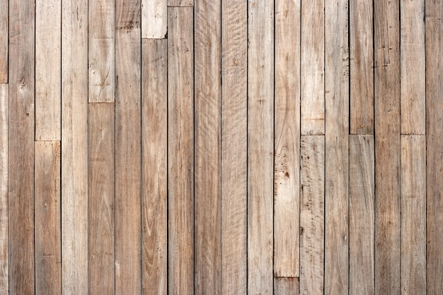 Brown wood plank wall texture background Premium Photo
