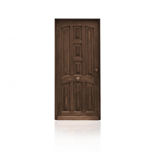 Brown wooden door photo free download for Door design hd photo