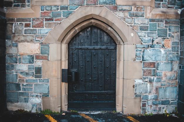 Brown wooden door Free Photo
