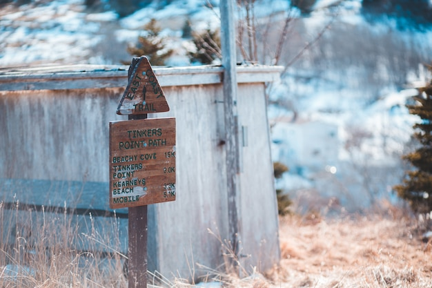 Коричневые деревянные вывески возле сарая Бесплатные Фотографии