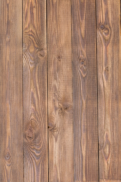Brown wooden texture, board vertically Premium Photo