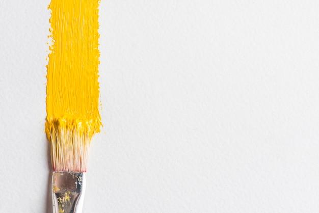 Brush near smear of paint Free Photo
