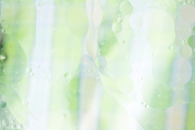 Bubble textured over the green and white background Free Photo