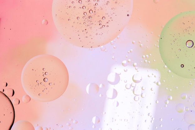 Bubbles filled with rain droplets Free Photo