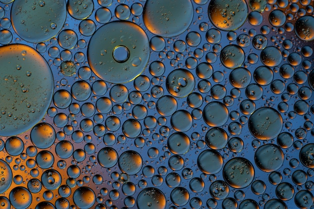 Bubbles world colorfull macro abstract in watter surface background Premium Photo