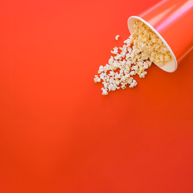 Bucket of popcorn with space on left Free Photo