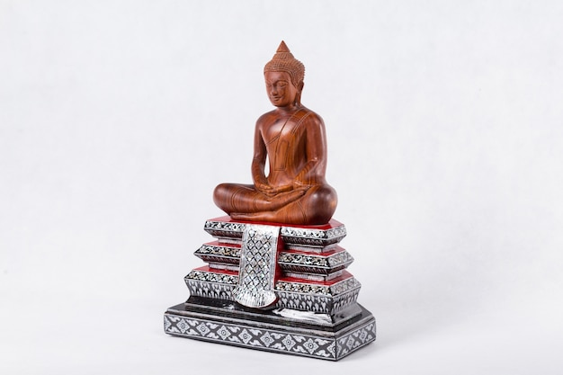 Buddha statue isolated on white Premium Photo