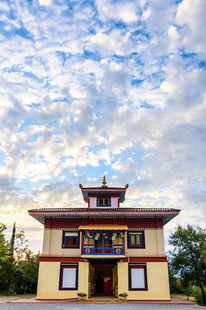 Buddhist temple dag shang kagyu in panillo huesca aragon spain Premium Photo
