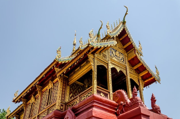 Buddist temple in lampoon, thailand Premium Photo