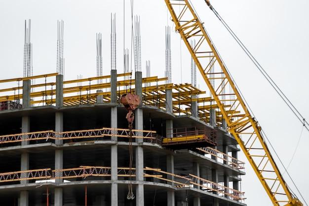 Building construction on monolithic technology. Premium Photo