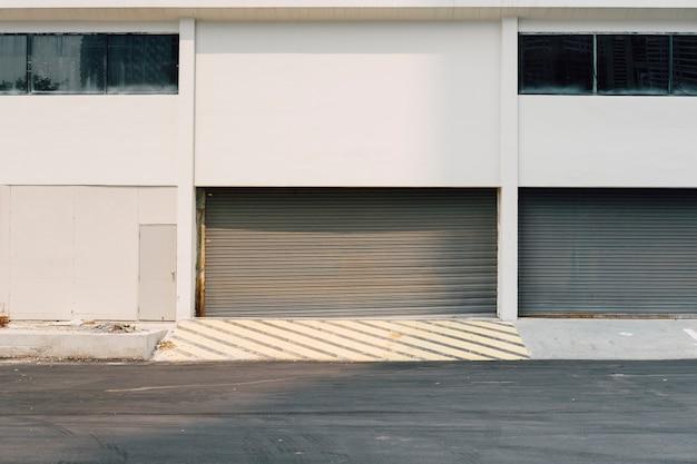 Building and garage door Free Photo