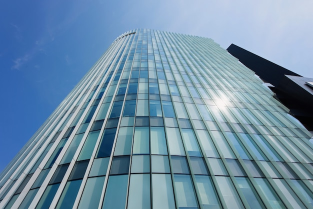 Building with glass walls Premium Photo