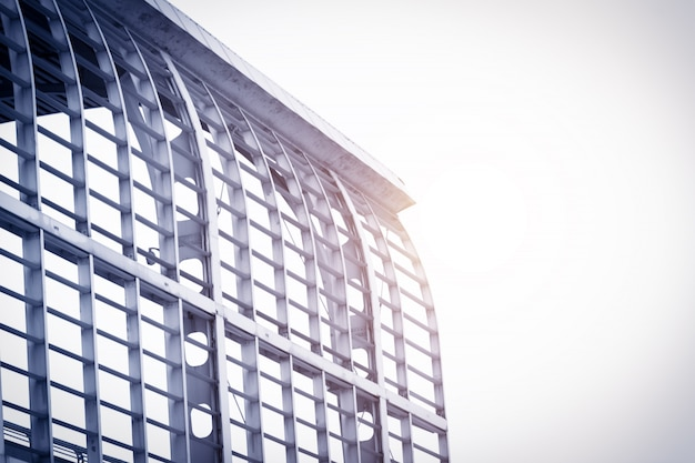 Building with metal frame Free Photo