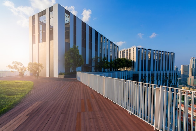 Buildings with modern architecture Premium Photo