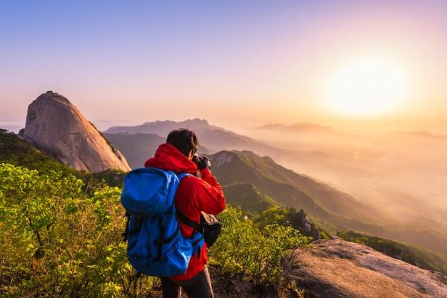 Bukhansan national park, south korea Premium Photo