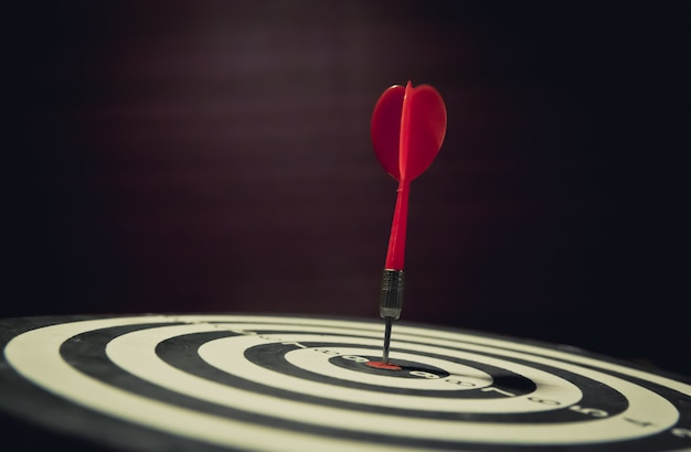 Bullseye is a target of business focus and winner winner concept. Premium Photo