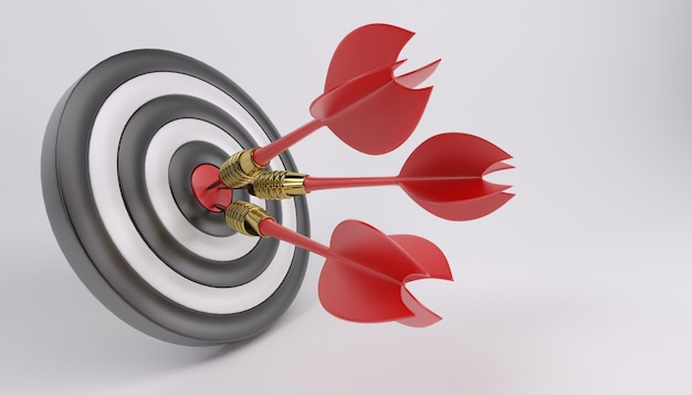 Bullseye with three darts Free Photo