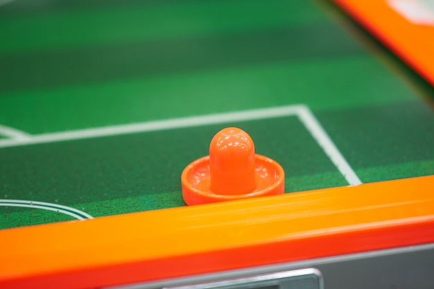 Bumper for air flow hockey game in game arcade Premium Photo