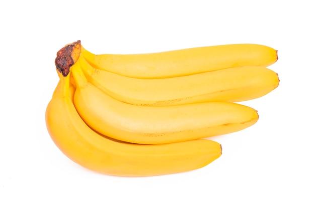 Bunch of bananas isolated on white background Premium Photo